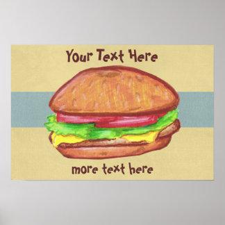 Poster de la hamburguesa