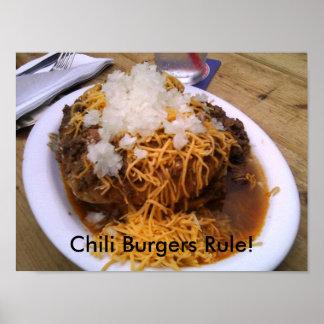 Poster de la hamburguesa del chile
