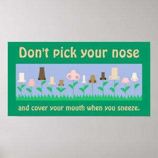 Poster de la higiene póster