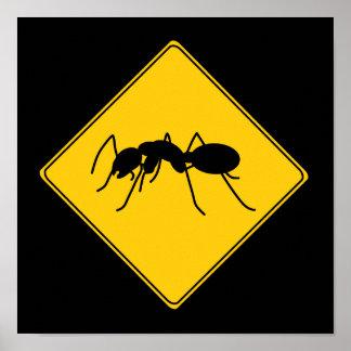 Poster de la hormiga de la muestra de camino