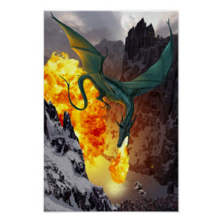 Poster de la huelga del dragón