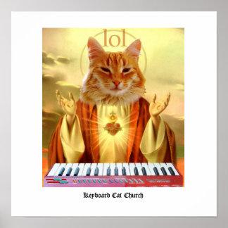 Poster de la iglesia del gato del teclado