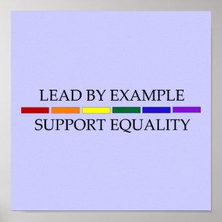 Poster de la igualdad de la ayuda póster