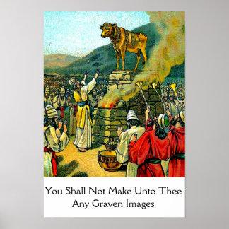 Poster de la imagen grabada póster