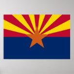 Poster de la impresión de la bandera del estado de