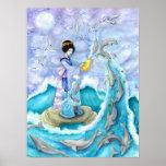 Poster de la impresión de la bella arte del atarde