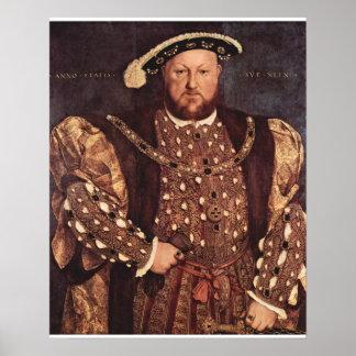 Poster de la impresión de la lona del rey Enrique