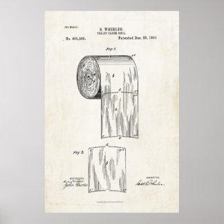 Poster de la impresión de la patente del rollo del