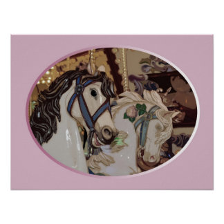 Poster de la impresión de los caballos del carruse
