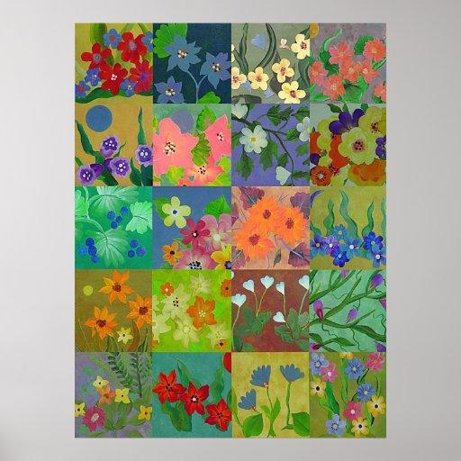 Poster de la impresión de los cuadrados del remien