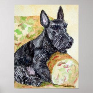 Poster de la impresión de Terrier del escocés