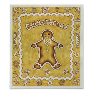 Poster de la impresión del arte de la galleta del