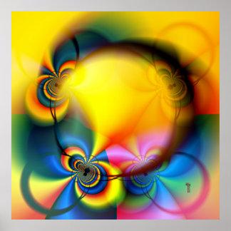 Poster de la impresión del arte de la rueda de la