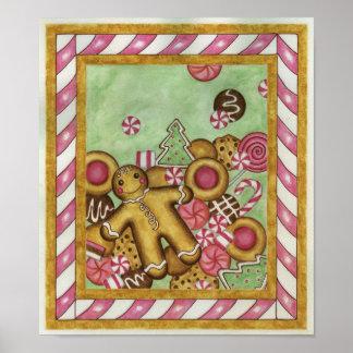 Poster de la impresión del arte de las galletas de
