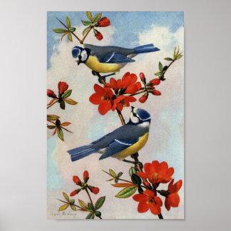 Poster de la impresión del arte de los flores del