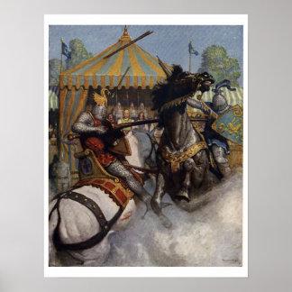 Poster de la impresión del arte de rey Arturo Seri