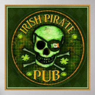 Poster de la impresión del arte del cráneo del Pub