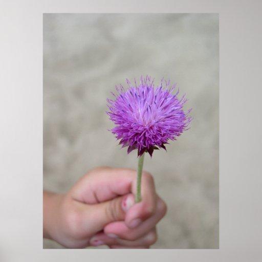 """Poster de la impresión del arte del """"flor hermoso"""""""