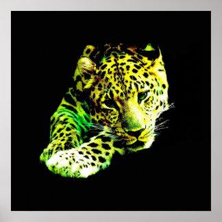Poster de la impresión del arte del leopardo