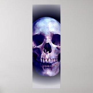 Poster de la impresión del arte pop de los cráneos