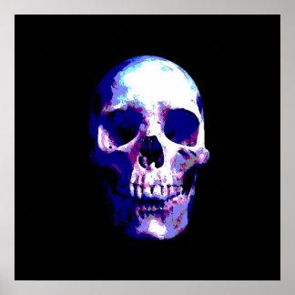 Poster de la impresión del arte pop del cráneo - i