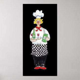 Poster de la impresión del cocinero de la degustac