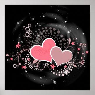 Poster de la impresión del ejemplo del amor
