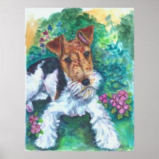 Poster de la impresión del fox terrier del alambre