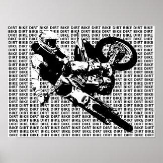 Poster de la impresión del motocrós de la bici de