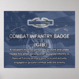 Poster de la insignia de infantería (CIB) de comba
