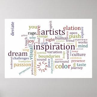 Poster de la inspiración de los artistas