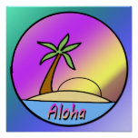 Poster de la isla de la hawaiana