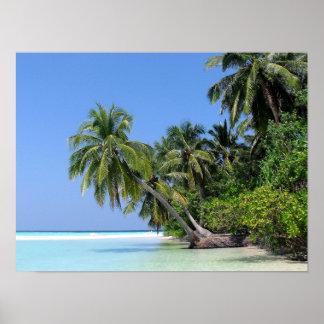 Poster de la isla de Maldivas - de Athuruga