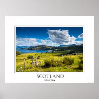 Poster de la isla de Skye en Escocia