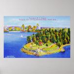 Poster de la isla de Vancouver del vintage