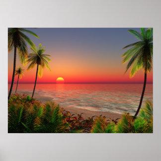 Poster de la isla del paraíso