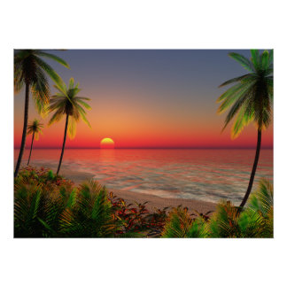 Poster de la isla del paraíso póster