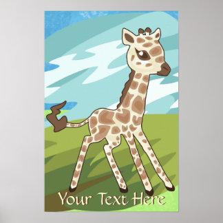 Poster de la jirafa del bebé