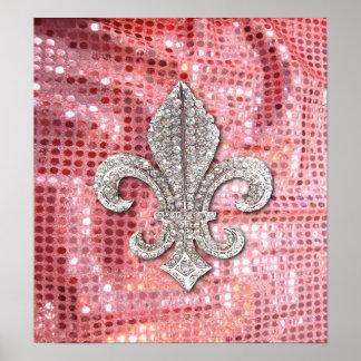 Poster de la joya de Flor New Orleans de la flor d