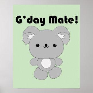 Poster de la koala de Kawaii