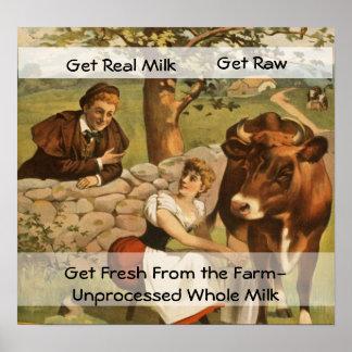 Poster de la leche del vintage