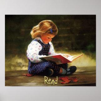 Poster de la lectura de la niña