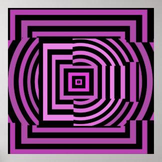 Poster de la letra E como fuente psicodélica