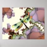Poster de la libélula (terroso)