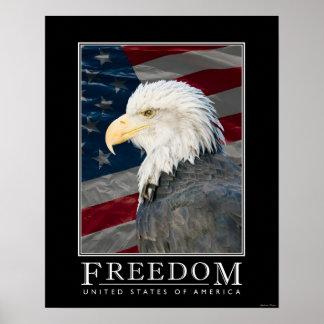 Poster de la libertad de Estados Unidos