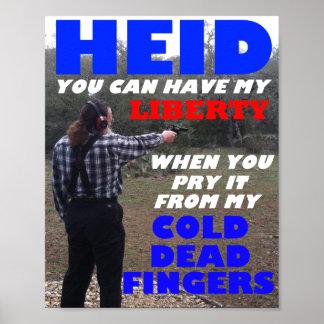 """Poster de la """"libertad"""" de Roberto Heid"""