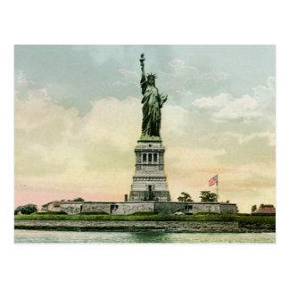 "Poster de la libertad del vintage ""estatua"". Nueva Tarjetas Postales"