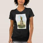 "Poster de la libertad del vintage ""estatua"" camisetas"