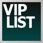 Poster de la lista del Vip