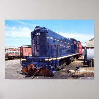 Poster de la locomotora 412 de Baldwin B&O